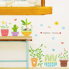 on self adhesive wall art stickers with bedroom wall art stickers plant pattern green pvc self adhesive