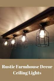 Barn Lights For Kitchen Rustic Farmhouse Decor Ceiling Light Cage Light Barn