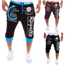 Egara Size Chart Casual Pants Heykeson Men Tight Letter Bermuda Shorts Men Homme