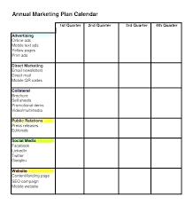 Calendar Marketing Plan Template Marketing Schedule Template