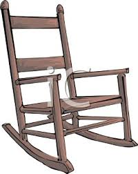 rocking chair clipart. Picture Of A Wooden Rocking Chair In Vector Clip Art Illustration - Royalty Free Clipart