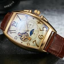 automatic mechanical watch men skeleton shenhua luxury brand clock leather strap sport military watches