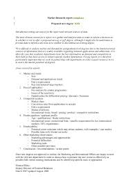 Research Document Template Market Research Template