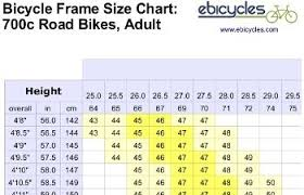 Rational Girls Road Bike Sizing Chart Bicycle Size For