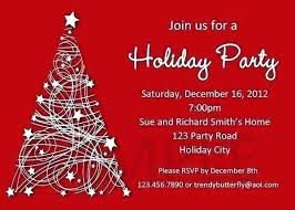 Office Holiday Party Invitation Wording Ideas From Christmas