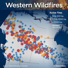 incredible images of fires raging across western canada