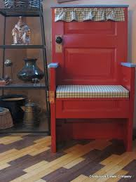 recycle old door into a chair