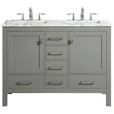eviva aberdeen 48 transitional gray bathroom vanity