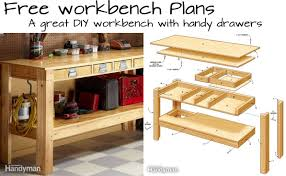 build this simple workbench with drawers woodwork city free woodworking plans