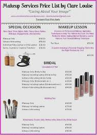 wedding makeup list new makeup services list