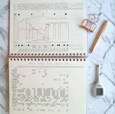 Minimalist Fertility Awareness Charting Notebook From