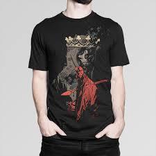 Mens And Womens Shirt Size Chart Hellboy T Shirt Comics Tee Mens Womens All Sizes Cartoon