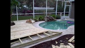 Wood Pool Deck Ideas On How To Build A Custom Wood Deck Around Your In Ground