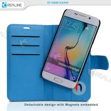 samsung galaxy s6 edge detachable wallet leather book cover
