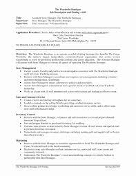 Sample Management Resume Beautiful Assistant Manager Resume Sample