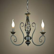 image of simple wrought iron chandeliers rustic