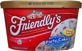 On Second Scoop Ice Cream Reviews Friendlys Party Cake Ice Cream