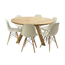 dare gallery round table dining for 6 square 60 x