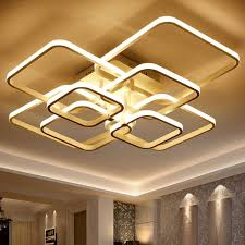 Rectangle Acrylique En Aluminium Moderne Led plafonniers pour le