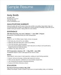 Free Printable Resume Example