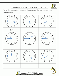 Time worksheets for grade 2 practical picture 748 1 the quarter ...
