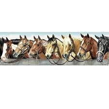 wallpaper borders horses western