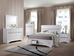 Acme Naima 4pc Panel Storage Bedroom Set in White