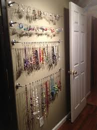 Jewelry Organizer Hanging Closet Pinterest Inspired Decor Wall Hardware And  Walls 2