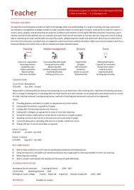 Teacher Cv Teacher Cv Template Lessons Pupils Teaching Job School