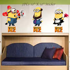 Minion Bedroom Wallpaper Despicable Me 2 Minion Wall Decal Sticker 3 In 1