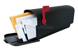Full Mailbox stock photo Image of junk nobody isolated 19887466