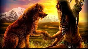 native american wolf wallpaper.  American Cool Native American Indian Background  With A Wolf  Wallpaper  Fantasy Wallpapers 14361 In Wolf Wallpaper R
