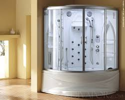 Jacuzzi Shower Combination Fabulous Corner Steam Whirlpool Jacuzzi With Chrome Faucet In