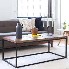 west elm round coffee table mid century pop up storage tray