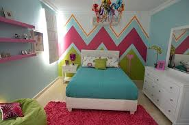 Teen Girls Chevron Bedroom Modern