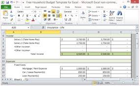 finances excel template free household budget template for excel