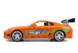 Amazon.com: New 1:18 FAST & FURIOUS 7 - ORANGE BRIAN'S TOYOTA ...