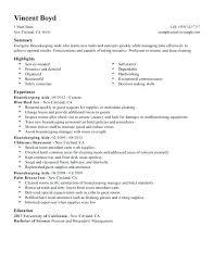 Executive Housekeeper Resume Resume Sample Source