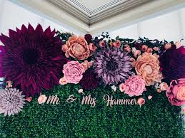Paper Flower Backdrop Rental Las Vegas Flower Wall Custom Backdrops