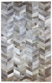 herringbone grey modern leather area rug jpg