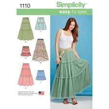 Simplicity Skirt Patterns Stunning Simplicity Pattern 48 Misses' Tiered Skirt With Length Variations