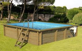 Wood Above Ground Swimming Pools Square X Luxury Fiberglass