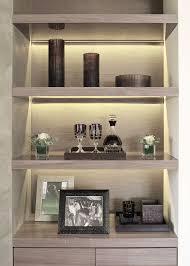 under shelf lighting. recessed lighting in the shelf under