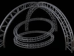 diy portable stage small stage lighting truss. Curved Sculpted Stage Lighting Trusses, Round Rigging, Club Decor, Steel Truss Building Kit W UV Maps Diy Portable Small K