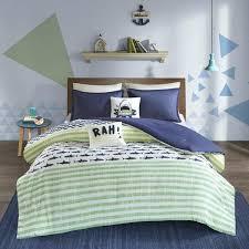 Aaron Bedroom Set Urban Habitat Kids Green Navy Cotton Printed 5 ...