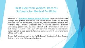 Best Electronic Medical Records Software For Medical Facilities