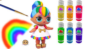 Rainbow BB DIY LOL Surprise <b>Custom</b> Makeover Painting Video ...