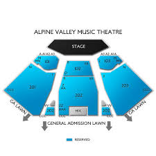 Alpine Valley Music Theatre 2019 Seating Chart