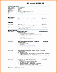 An Example Of A Good Resume Classy A Good Resume Example New 48 Examples Of Good Cv For Students Full