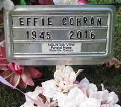 Effie Charlotte Stephens Cohran (1945-2016) - Find A Grave Memorial